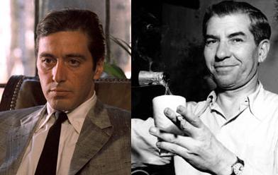 Michael Corleone y Lucky Luciano