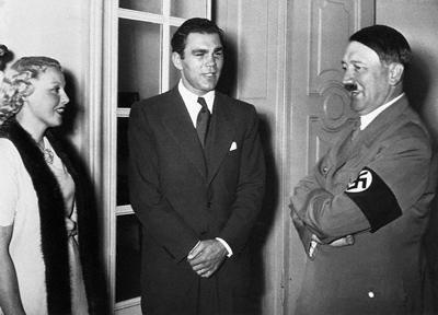 Max Schmeling y Adolf Hitler