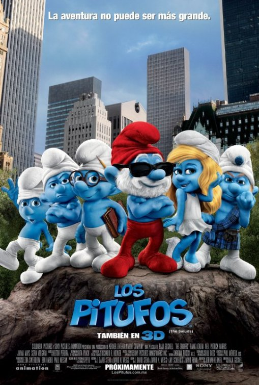 the smurfs los pitufos poster