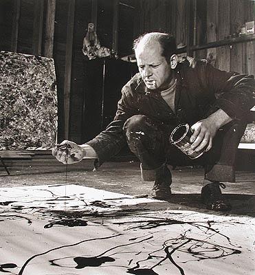 Pollock pintando