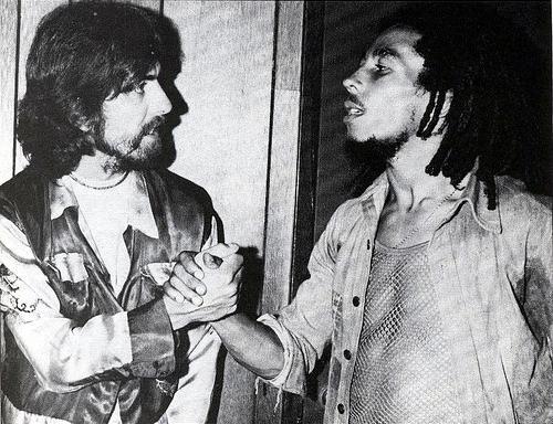 Harrison y Bob Marley