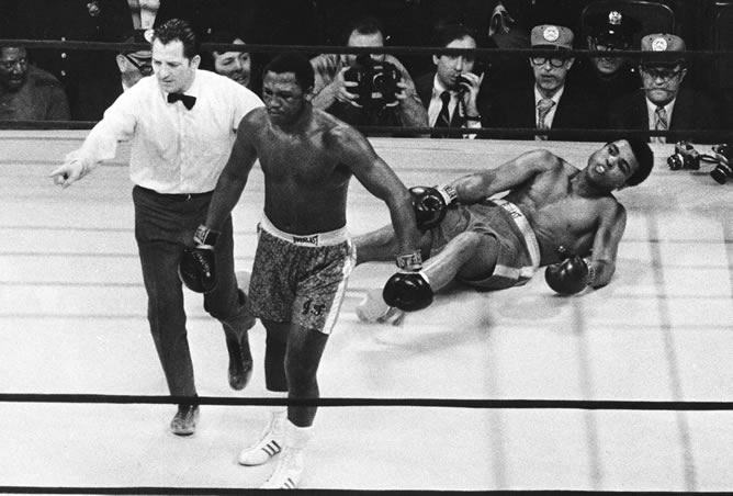 Joe Frazier y Muhammad Ali
