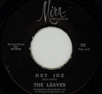 Single de Hey Joe de The Leaves, en el que se atribuye la autor
