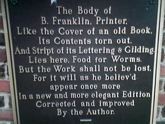 Tumba de Ben Franklin