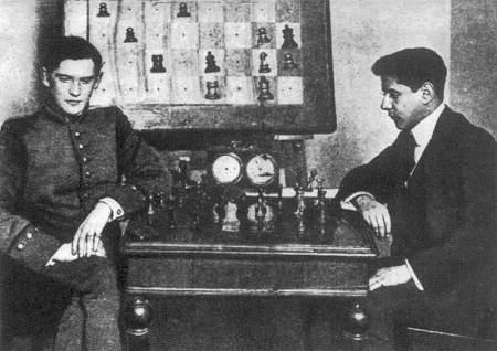 Alekhine y JRC en Moscu