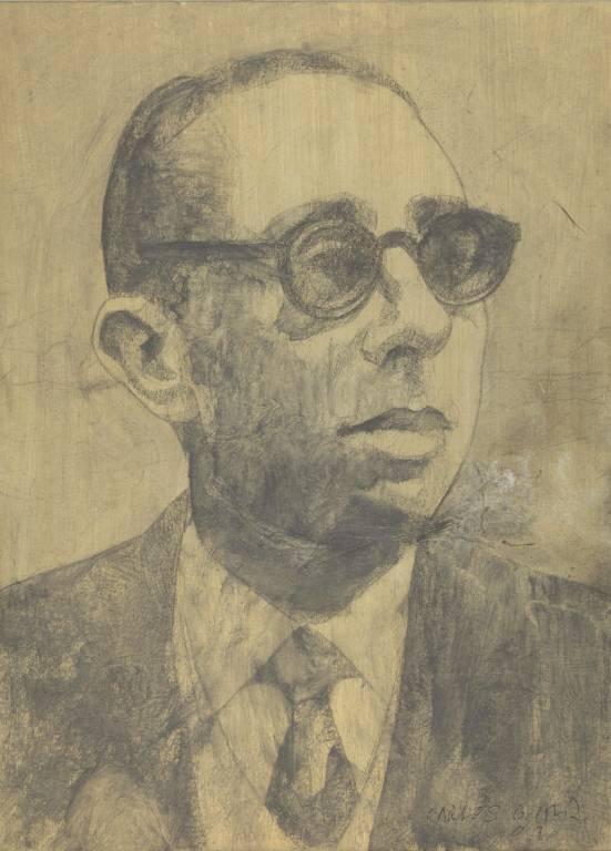Gonzalo Torrente Ballester. Dibujo de Carlos García Alix.