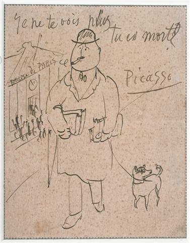 Apollinaire por Picasso