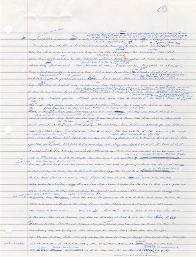 Correcciones de La Broma Infinita fotografía cedida por el Harry Ransom Center 1