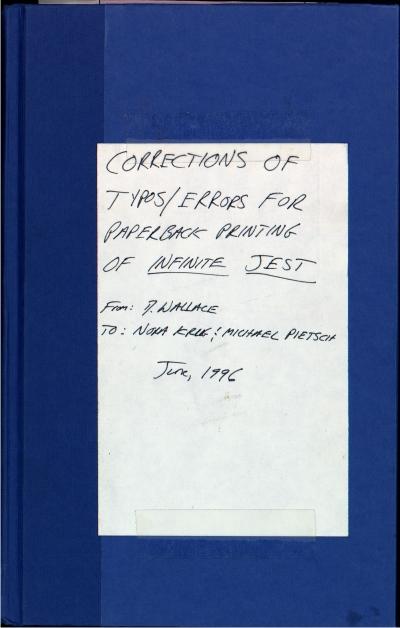 Correcciones de La Broma Infinita fotografía cedida por el Harry Ransom Center 3