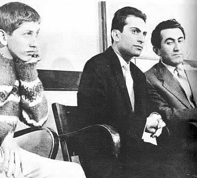 Bobby con Mikhail Tal y Tigran Petrosian