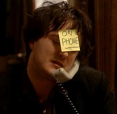 Bernard al telefono