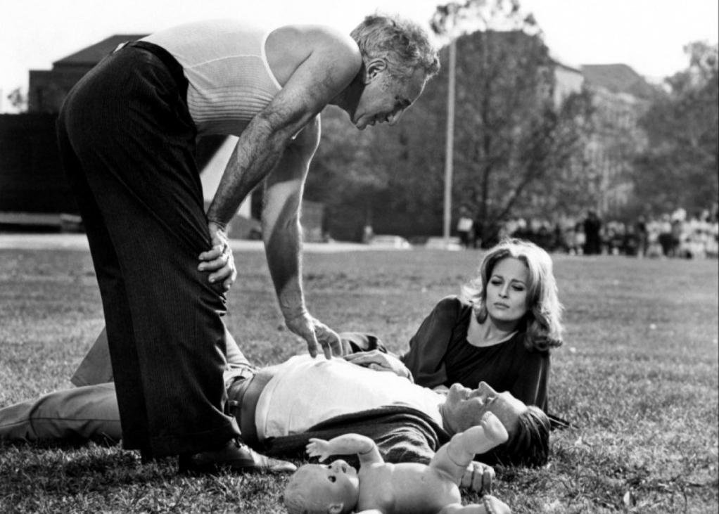 Elia Kazan Kirk Douglas y Faye Dunaway