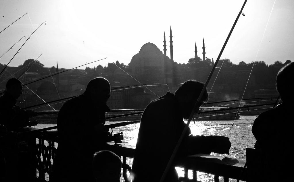 Pescadores en Istanbul