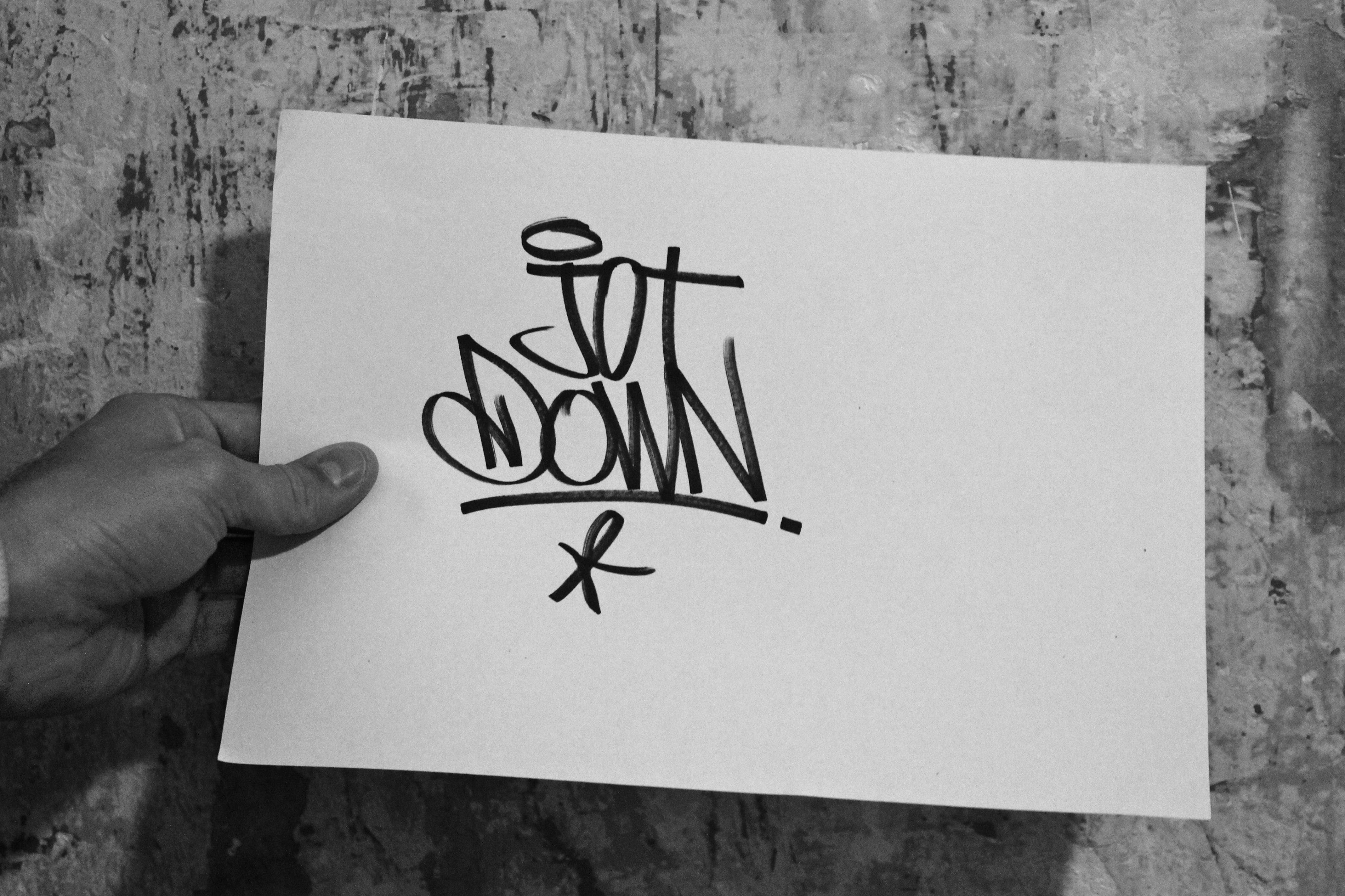 Boamistura, graffiti de puño y letra