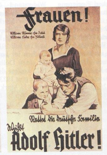 Mujeres Salven las familias alemanas. Elige Adolf Hitler