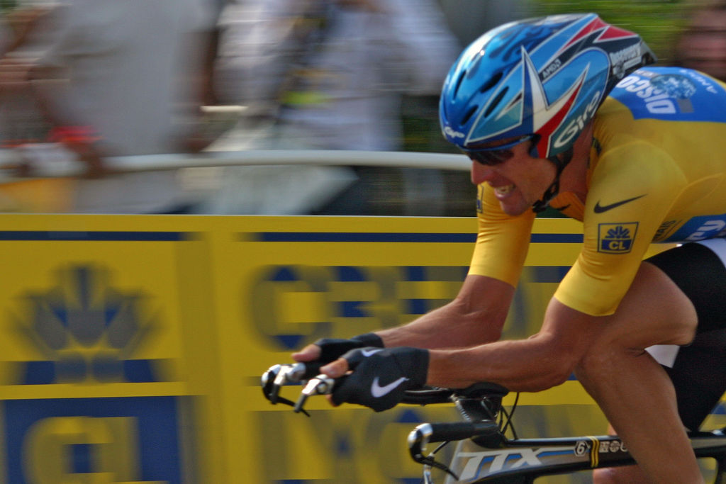 Lance Armstrong fotografía de Josh Gray