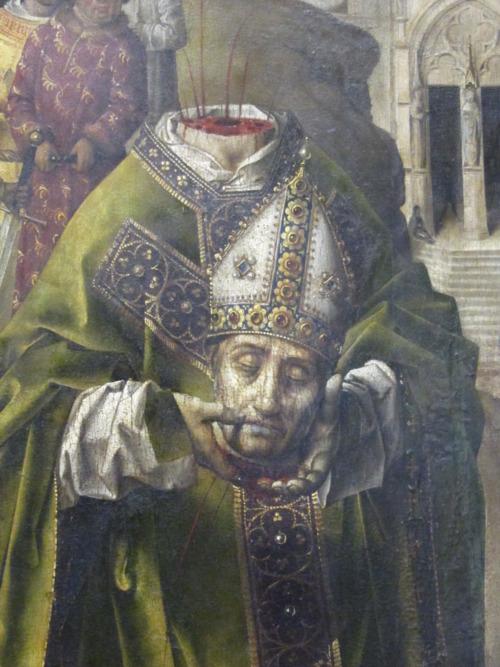 Aquí vemos a Dionisio en La Crucifixión del Parlamento de París André d'Ypres Museo del Louvre