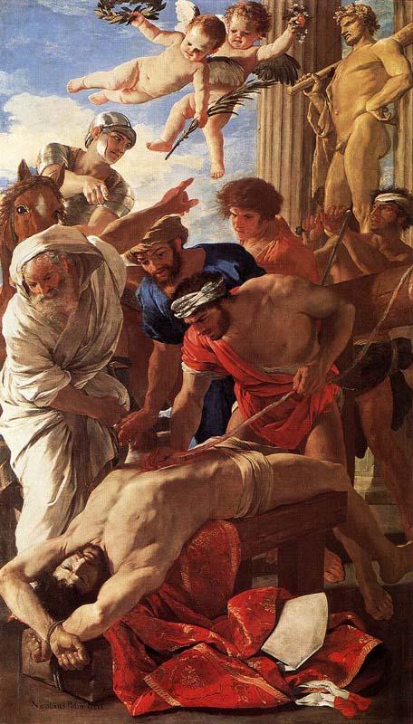 El martirio de San Erasmo Nicolas Poussin