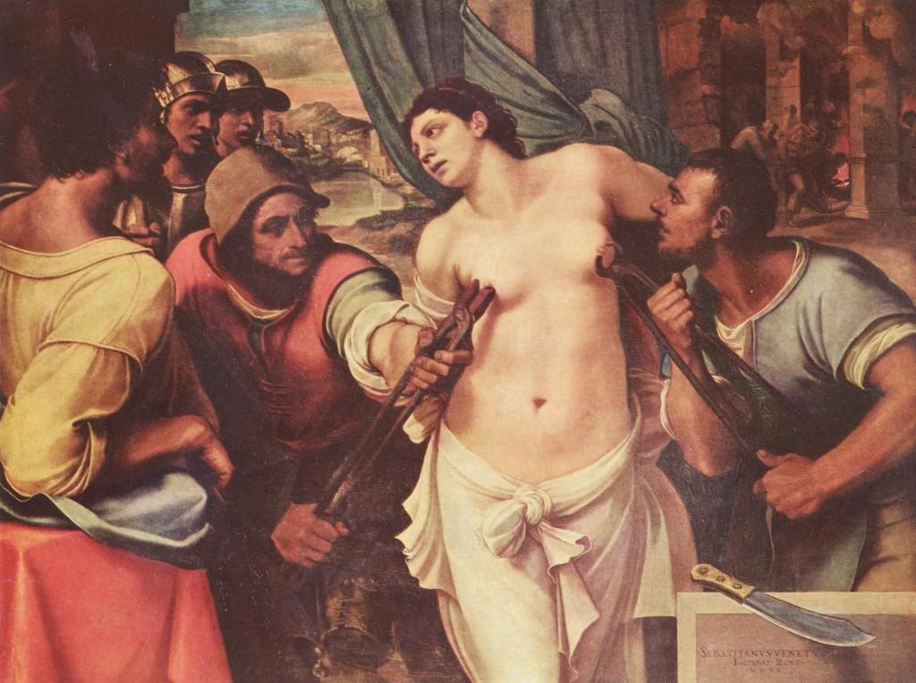 Martirio de Santa Águeda Sebastiano del Piombo 1520