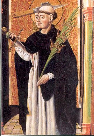 Pedro Mártir representado en el Retablo de San Antonio Abad Museo Catedralicio de Astorga