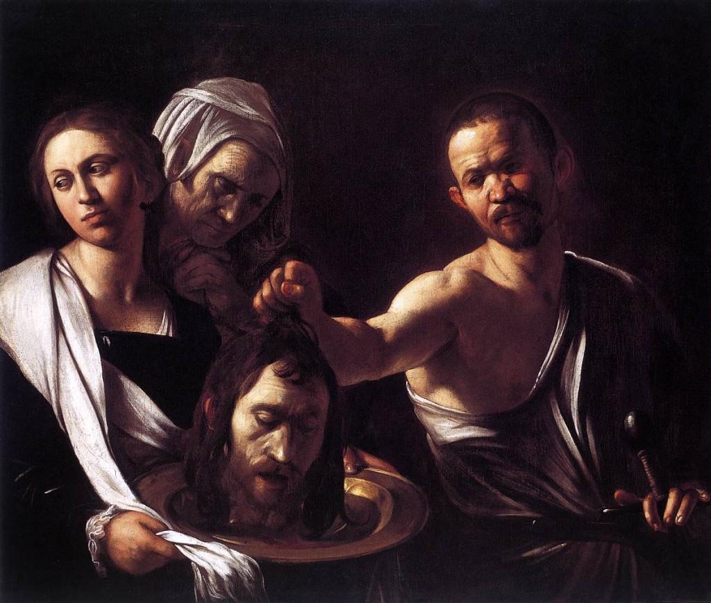 Salomé recibe la cabeza de Juan el Bautista Caravaggio