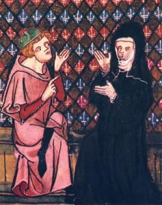Abelardo y Eloísa en plena discusión