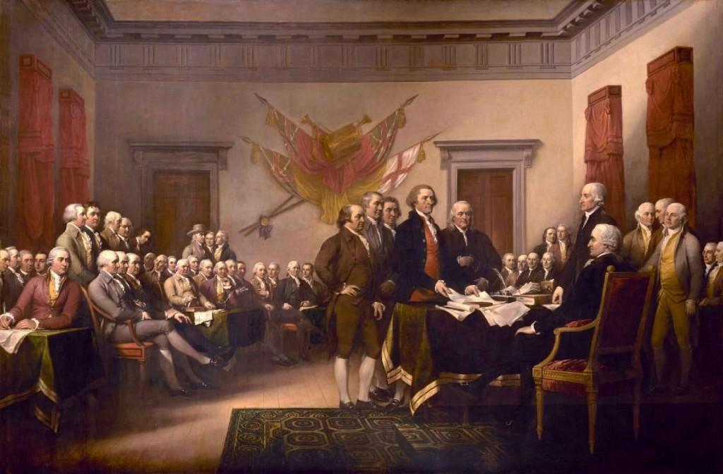 John Trumbull Declaración de independencia