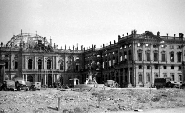 Foto del Palacio Würzburg tomada por el soldado Jerry Pinkowski