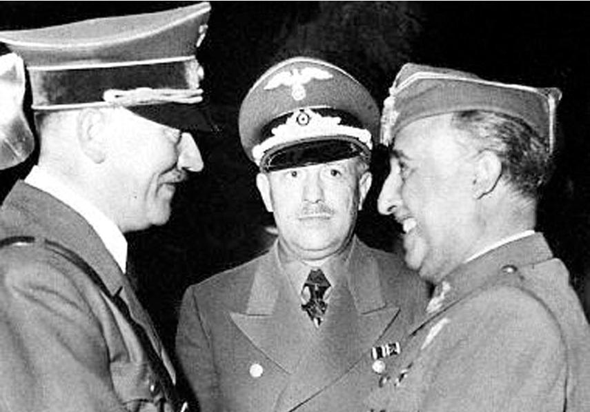 Hitler con Franco