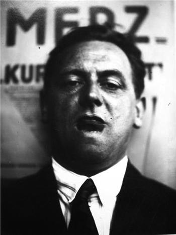 Retrato de Kurt Schwitters por el El Lissitzky, 1929