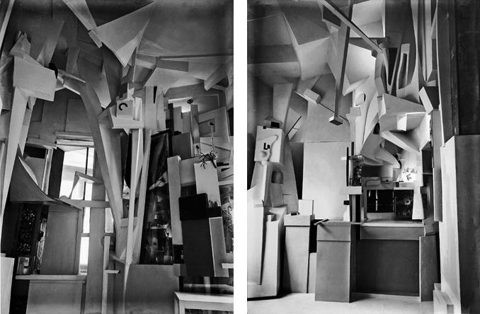 La Merzbau original, fotos de 1933 por Kurt Scwitters