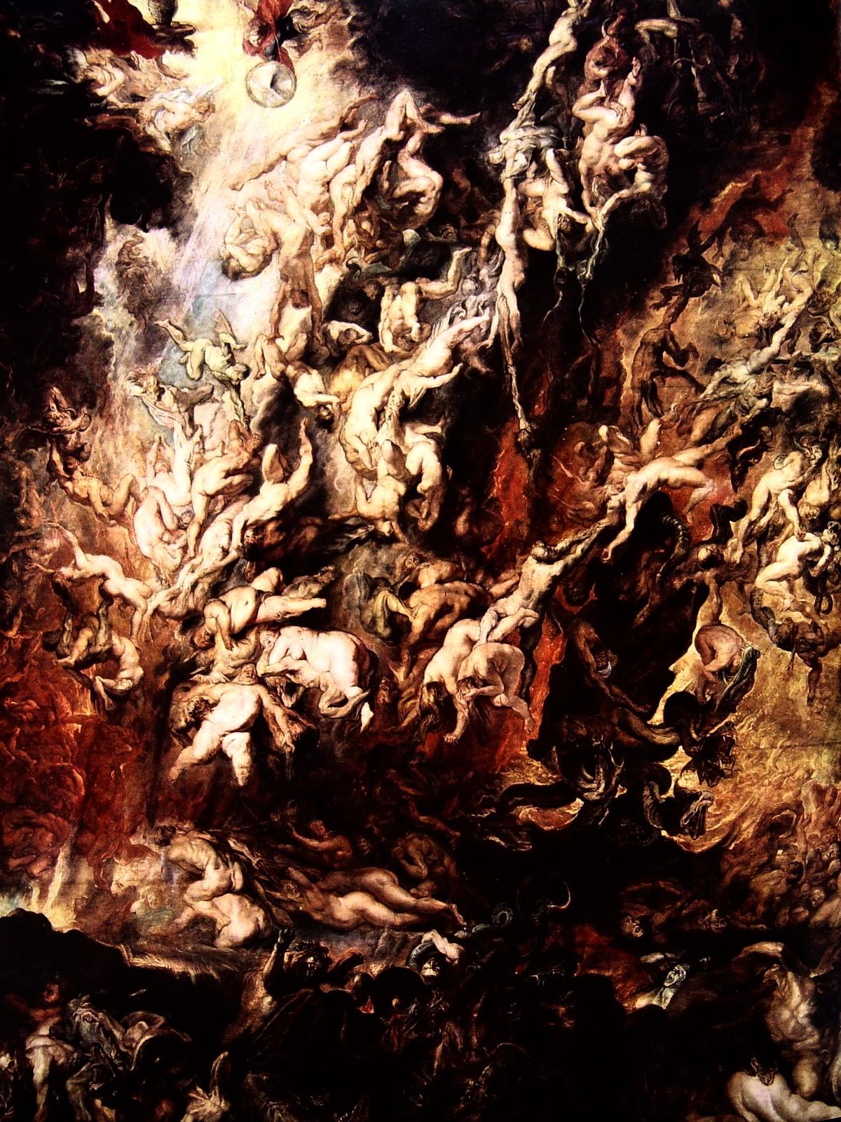 La caída de los condenados, de Rubens