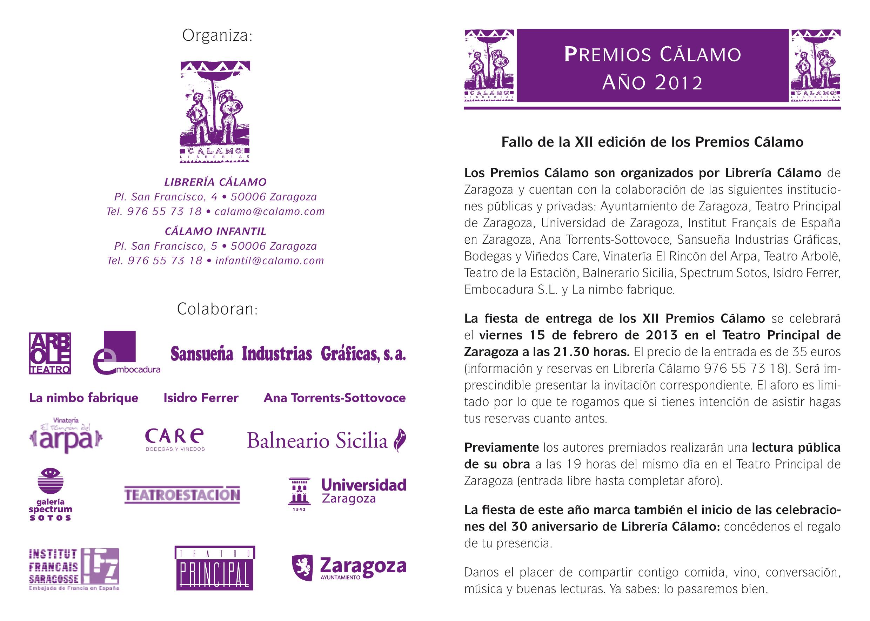 Premios C‡lamo XII 2013.indd