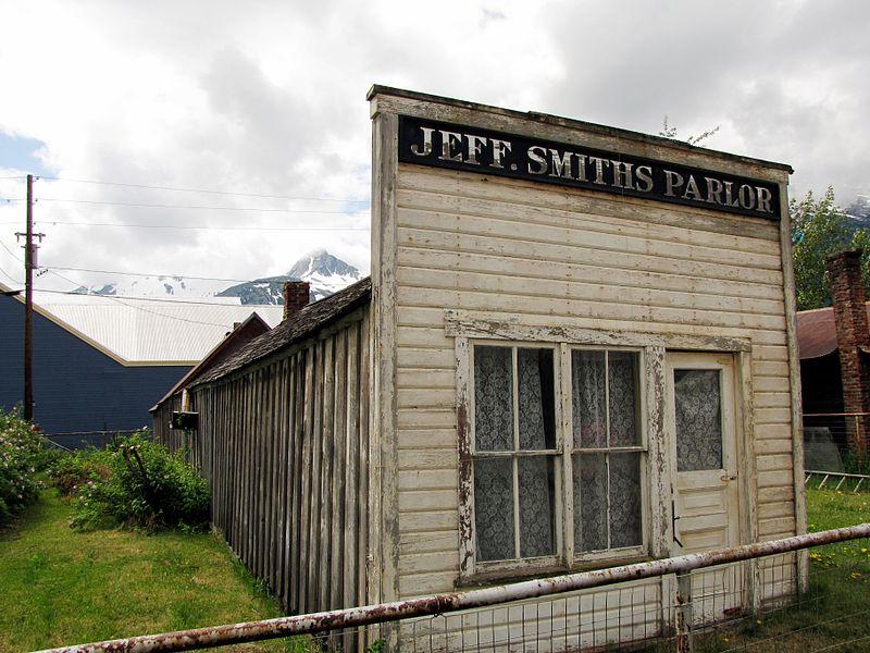 El Saloon de Soapy Smith en Shagway, Alaska, se conservó como monumento histórico.