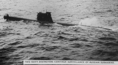 La detección de submarinos soviéticos parecía anticipar un intercambio de fuego naval entre ambas superpotencias.