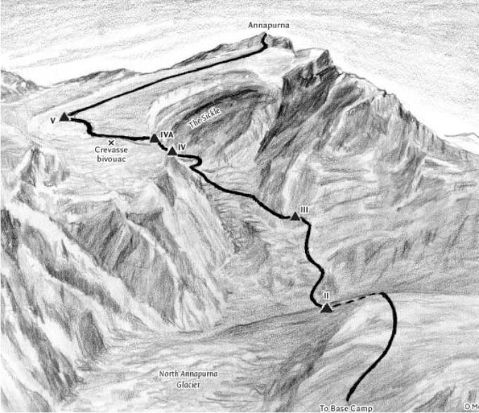 dibujo de la ruta
