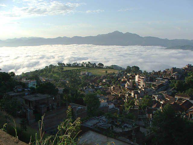 el himalaya visto desde tansen