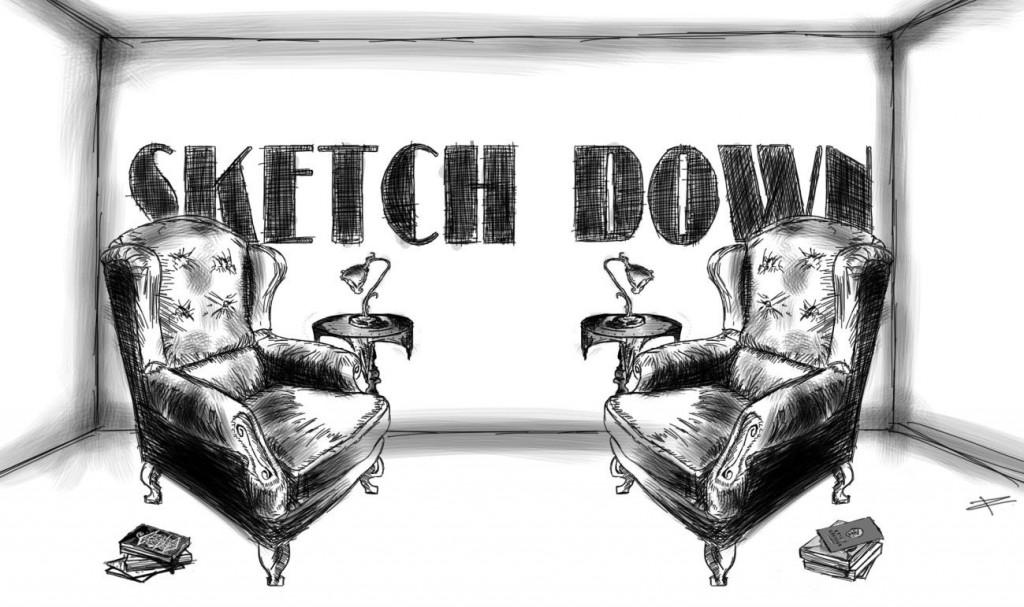 sketch down