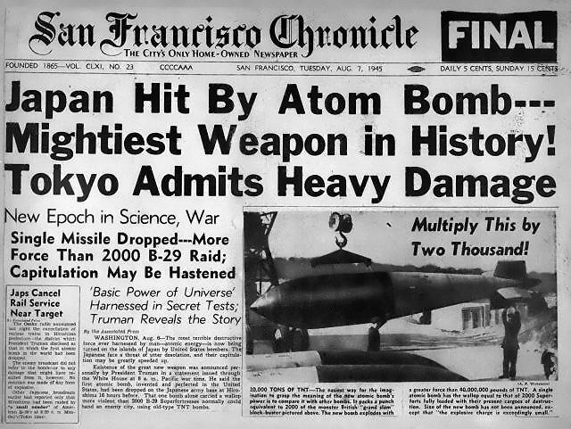 La noticia del bombardeo recogida en la prensa estadounidense.