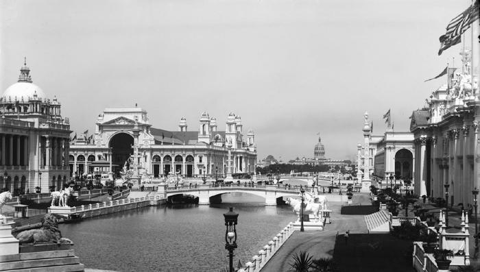 Vista de la Exposición Colombina de Chicago (1893).