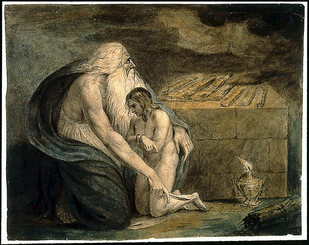 Abraham and Isaac - Por William Blake