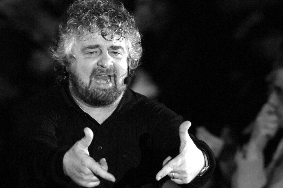 Beppe Grillo en Nápoles