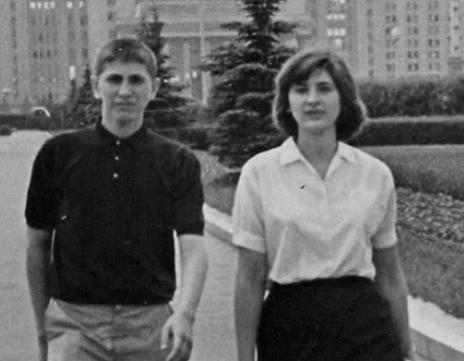 Una imagen poco habitual: Bobby con su única hermana, Joan Fischer.