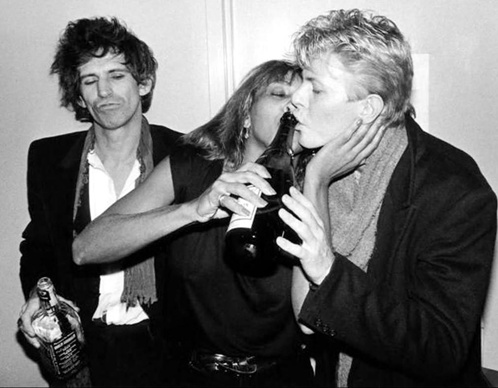 Keith Richards, Tina Turner, David Bowie