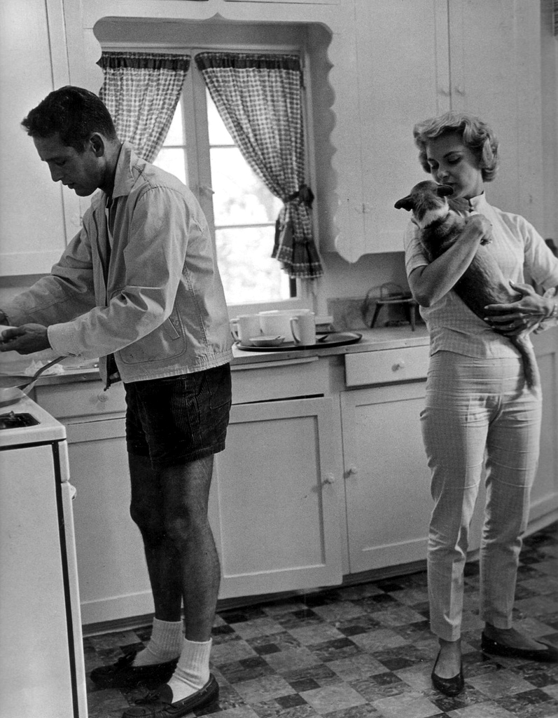 Paul Newman y Joanne Woodward - Fotografía de Syd Avery