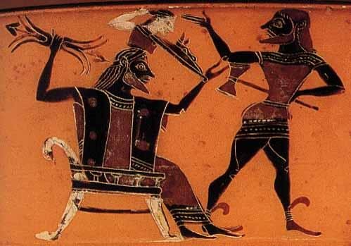 Atenea naciendo del cráneo de Zeus
