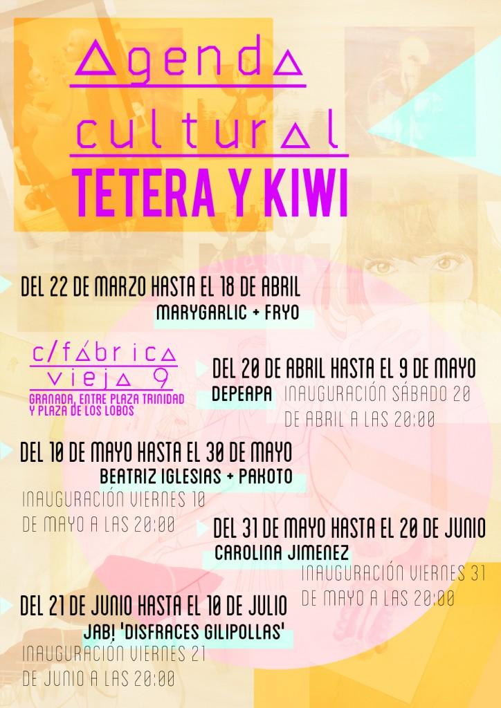 Calendario exposiciones Tetera y Kiwi