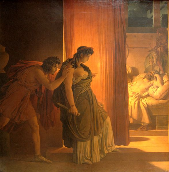 Clitemnestra y Egisto a punto de matar a Agamenón, de Pierre Narcisse Guérin