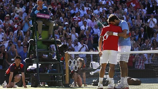 Juan Martín Del Potro y Roger Federer