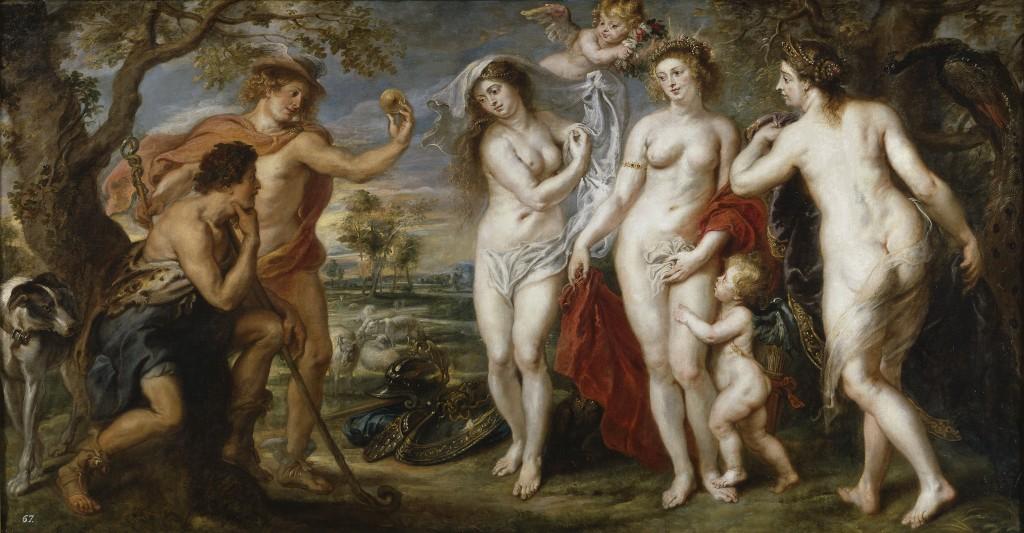 Las tres Gracias representadas en El juicio de París, de Rubens